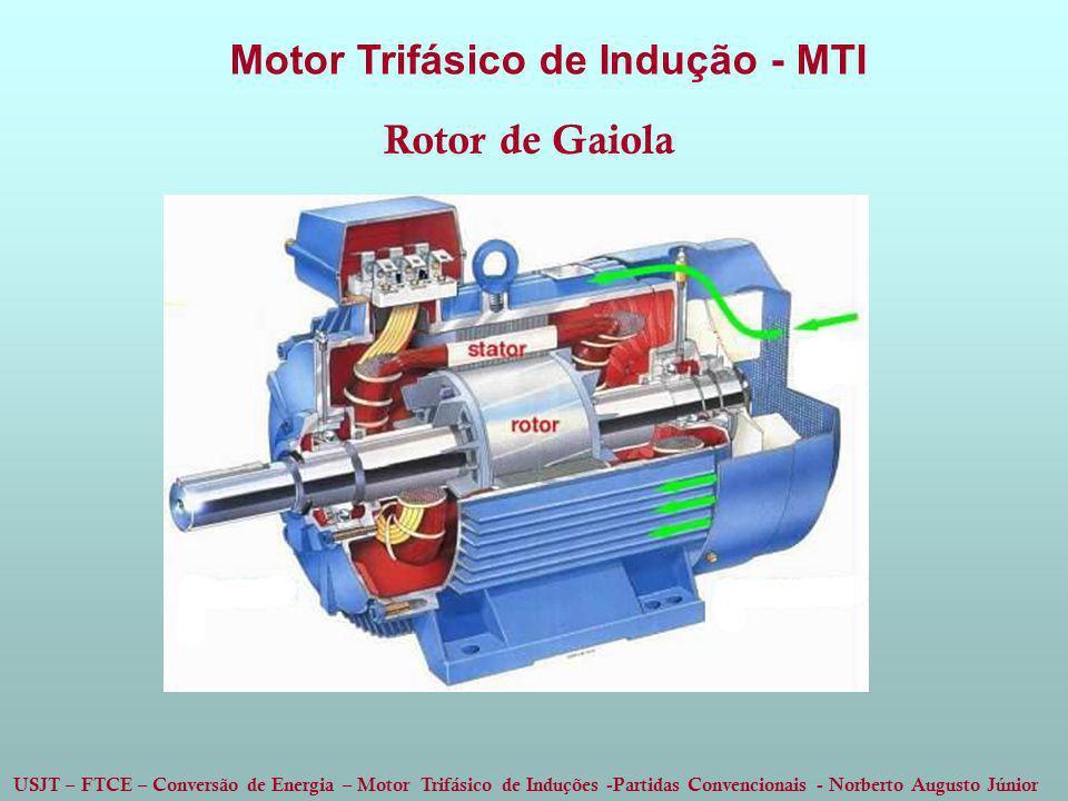 USJT – FTCE – Conversão de Energia – Motor Trifásico de Induções -Partidas Convencionais - Norberto Augusto Júnior Motor Trifásico de Indução - MTI Ro