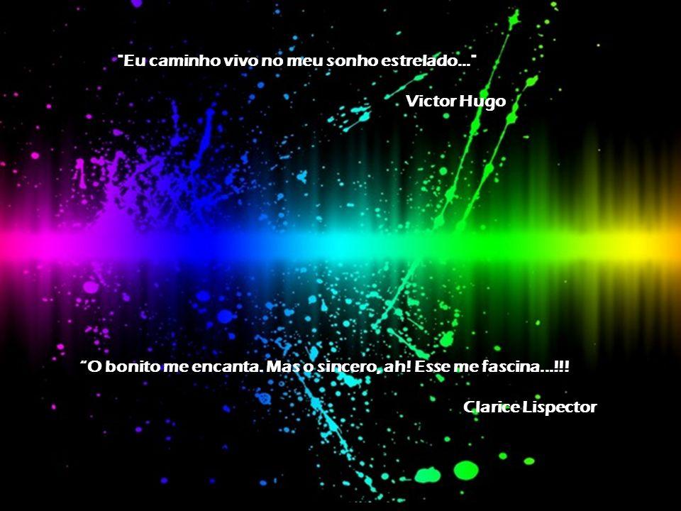 Eu caminho vivo no meu sonho estrelado... Victor Hugo O bonito me encanta.