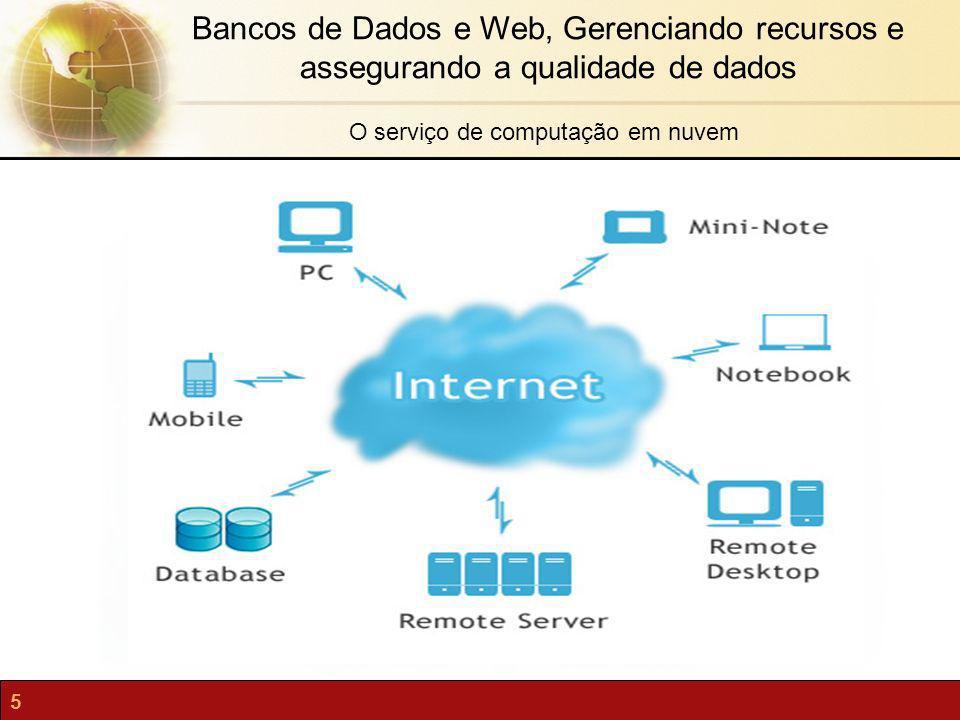 5 Bancos de Dados e Web, Gerenciando recursos e assegurando a qualidade de dados O serviço de computação em nuvem