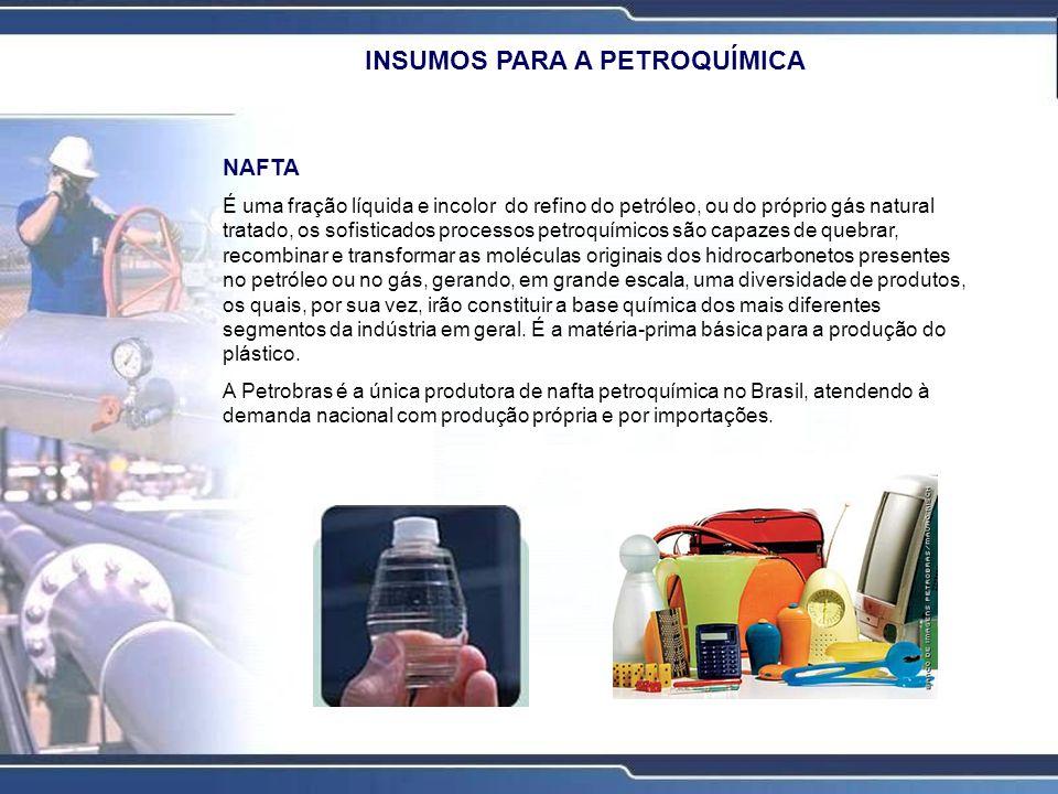 NAFTA É uma fração líquida e incolor do refino do petróleo, ou do próprio gás natural tratado, os sofisticados processos petroquímicos são capazes de