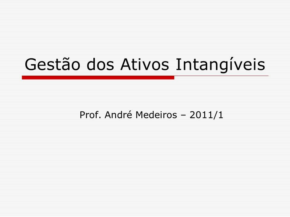 Gestão dos Ativos Intangíveis Prof. André Medeiros – 2011/1