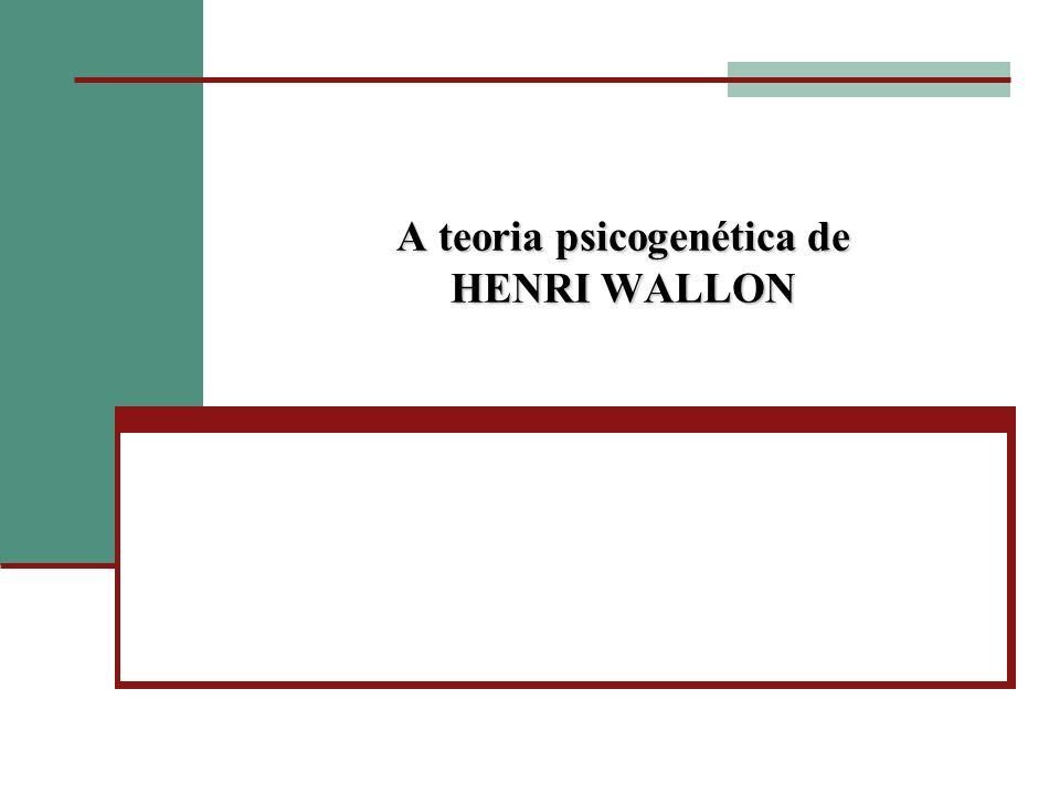Nasceu em Paris em 1879 e morreu em 1962, com 83 anos Estudou Filosofia e Medicina Escreveu sobre Psicologia e Educação Participou das duas Guerras Mundiais Reconstrução da França: Plano Langevin Wallon Teve dois grandes interlocutores: Piaget e Freud Dedicou-se à Psicogênese da Pessoa Atribuiu à Psicologia um tratamento histórico, neurofuncional, multidimensional e comparativo Trouxe um novo olhar para a motricidade, a emoção e a cognição: o social