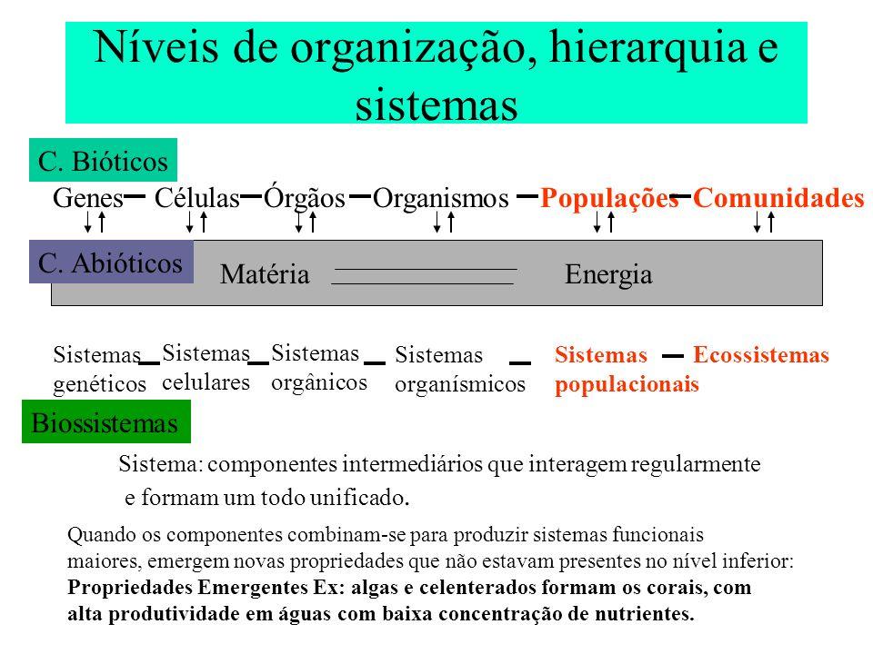 Termos em Ecologia 1 (segundo Odum, E) Ecossistema é a unidade funcional básica da ecologia.