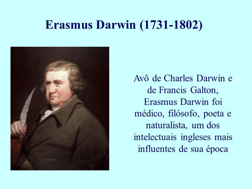 Avô de Charles Darwin e de Francis Galton, Erasmus Darwin foi médico, filósofo, poeta e naturalista, um dos intelectuais ingleses mais influentes de s