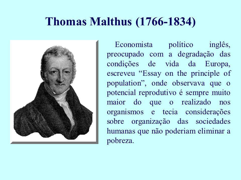 Economista político inglês, preocupado com a degradação das condições de vida da Europa, escreveu Essay on the principle of population, onde observava