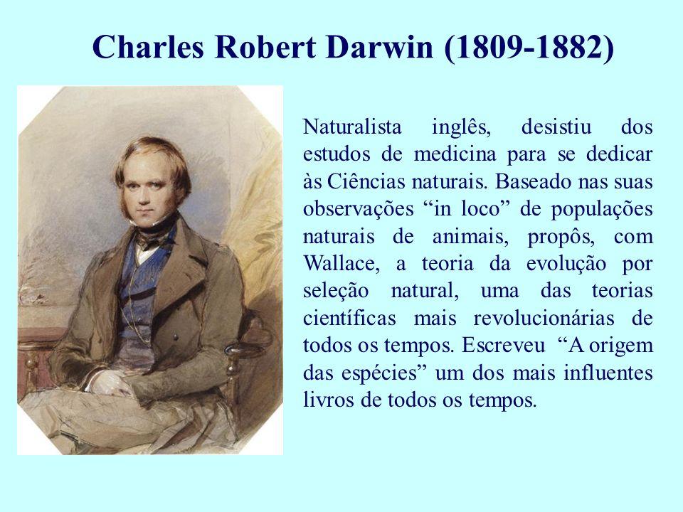 Naturalista inglês, desistiu dos estudos de medicina para se dedicar às Ciências naturais. Baseado nas suas observações in loco de populações naturais