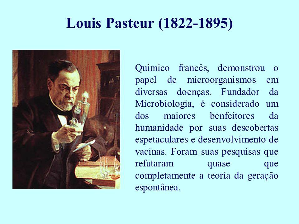 Químico francês, demonstrou o papel de microorganismos em diversas doenças. Fundador da Microbiologia, é considerado um dos maiores benfeitores da hum
