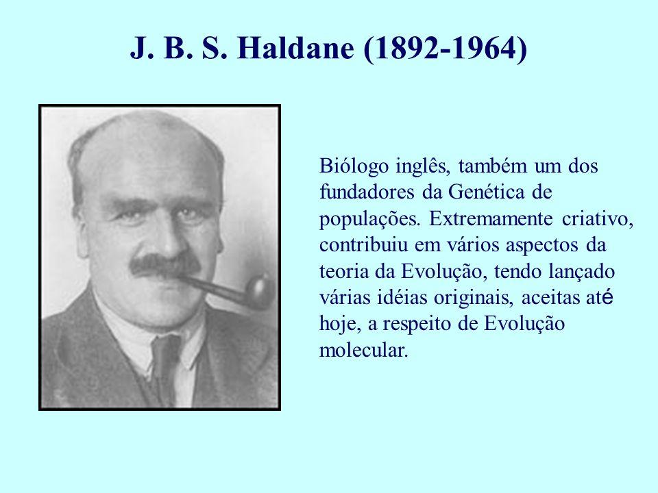 Biólogo inglês, também um dos fundadores da Genética de populações. Extremamente criativo, contribuiu em vários aspectos da teoria da Evolução, tendo