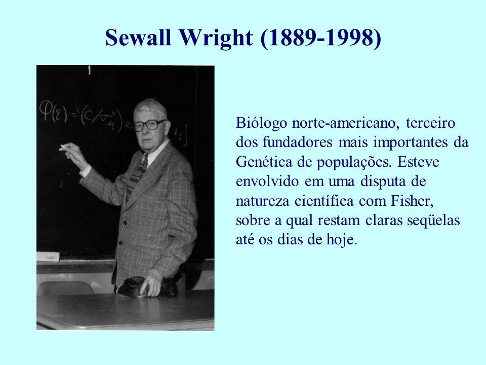 Biólogo norte-americano, terceiro dos fundadores mais importantes da Genética de populações. Esteve envolvido em uma disputa de natureza científica co