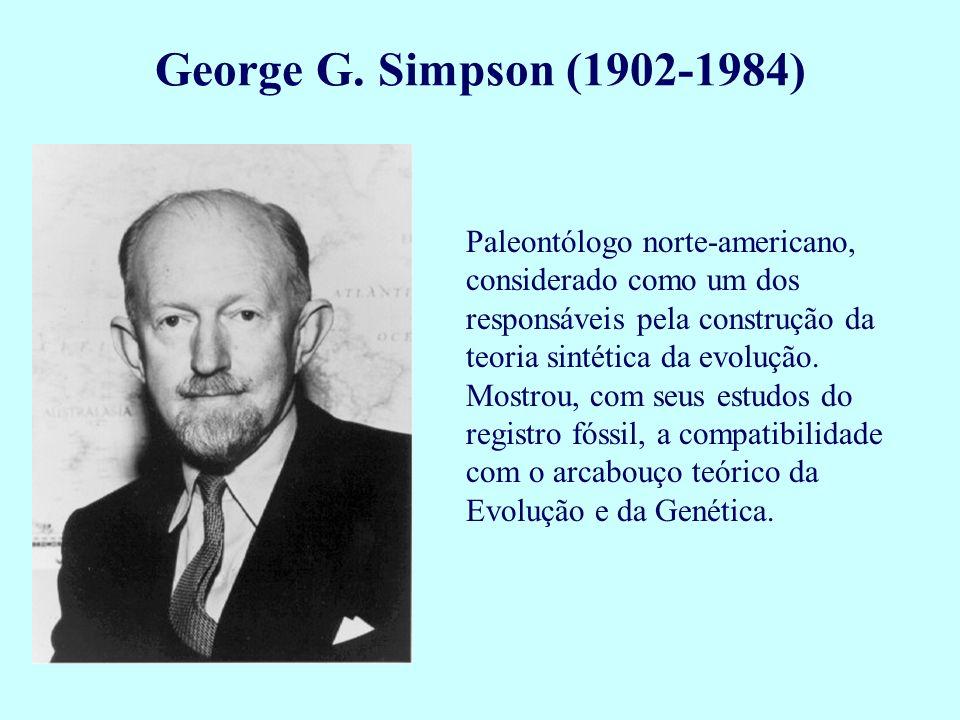 Paleontólogo norte-americano, considerado como um dos responsáveis pela construção da teoria sintética da evolução. Mostrou, com seus estudos do regis