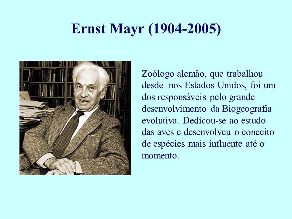 Zoólogo alemão, que trabalhou desde nos Estados Unidos, foi um dos responsáveis pelo grande desenvolvimento da Biogeografia evolutiva. Dedicou-se ao e
