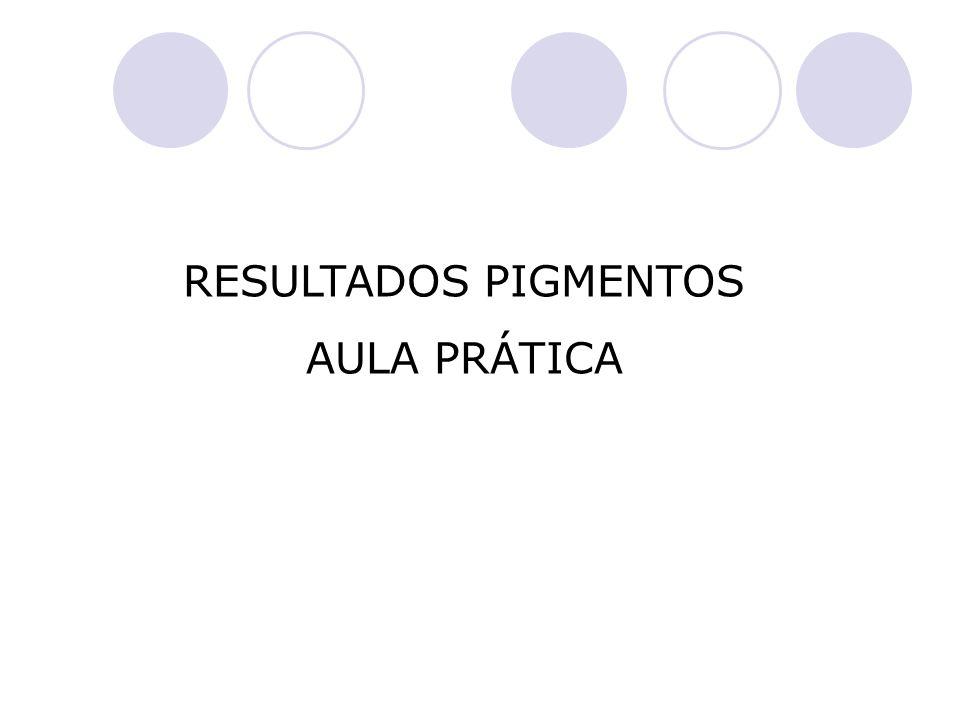 RESULTADOS PIGMENTOS AULA PRÁTICA