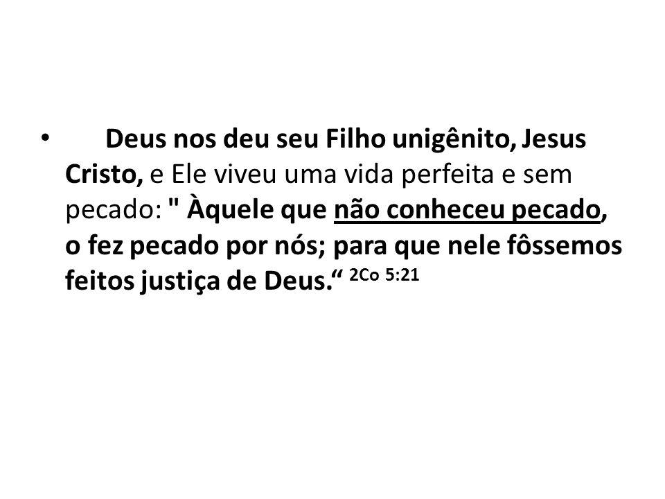 Deus nos deu seu Filho unigênito, Jesus Cristo, e Ele viveu uma vida perfeita e sem pecado: