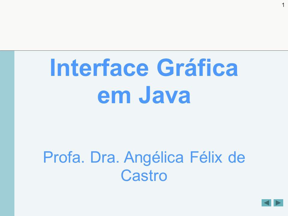 1 Interface Gráfica em Java Profa. Dra. Angélica Félix de Castro