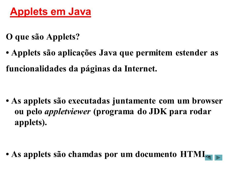Applets em Java O que são Applets.