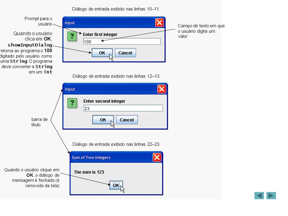 Construindo um JTextField /* Cria um campo de nome */ JTextField campoNome = new JTextField(10); JLabel labelNome = new JLabel ( Nome: ); labelNome.setLabelFor (campoNome); /* Cria um campo de email */ JTextField campoEmail = new JTextField(10); JLabel labelEmail = new JLabel ( Email: ); labelEmail.setLabelFor (campoEmail);