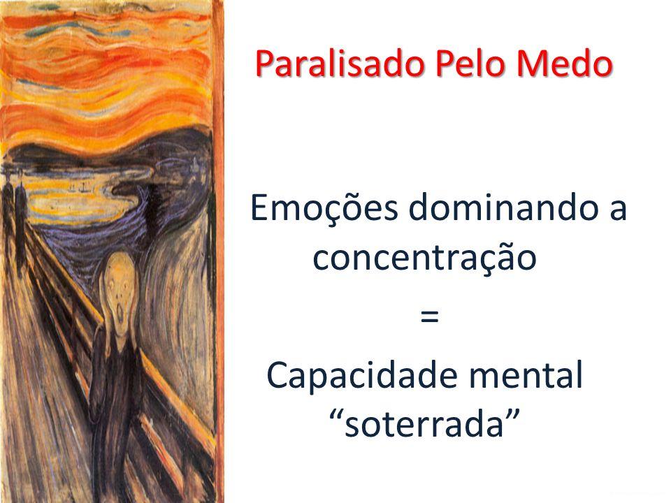 Emoções dominando a concentração = Capacidade mental soterrada Paralisado Pelo Medo