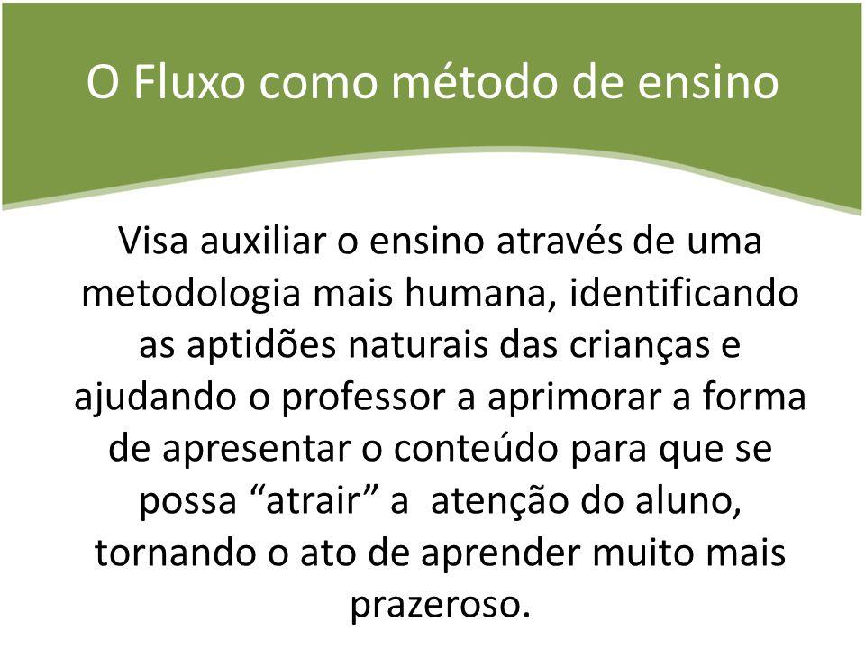 O Fluxo como método de ensino Visa auxiliar o ensino através de uma metodologia mais humana, identificando as aptidões naturais das crianças e ajudand