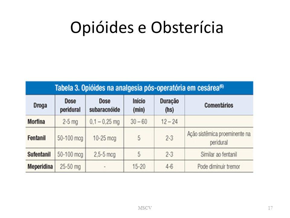 Opióides e Obsterícia MSCV17