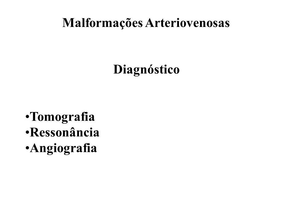 Malformações Arteriovenosas Diagnóstico Tomografia Ressonância Angiografia