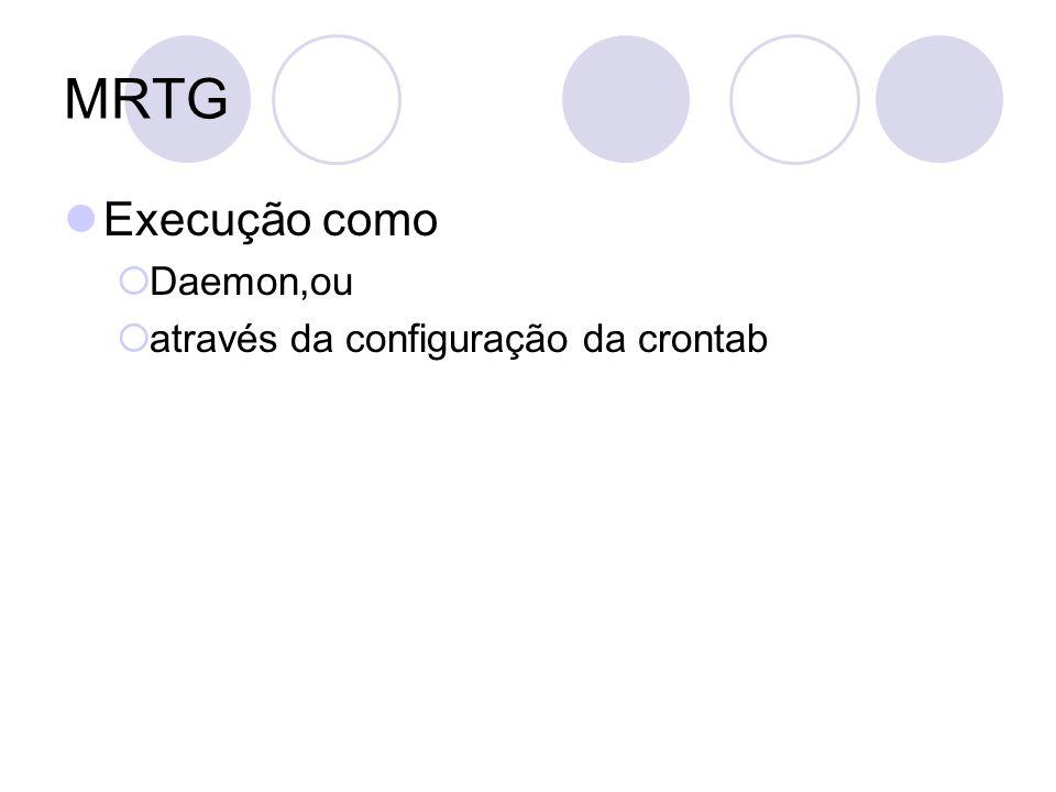 MRTG Execução como Daemon,ou através da configuração da crontab