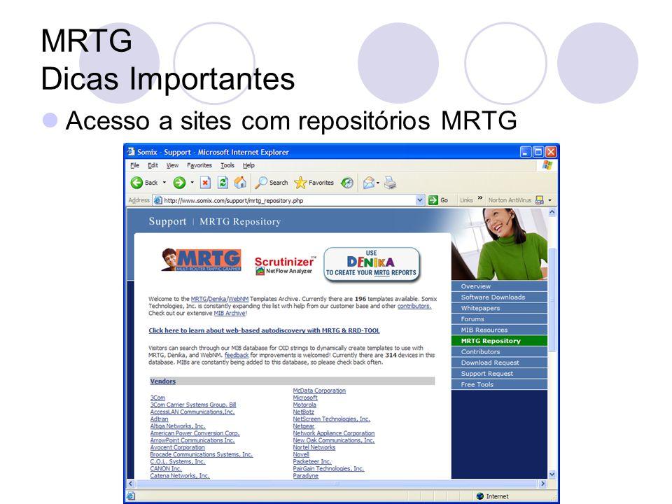 MRTG Dicas Importantes Acesso a sites com repositórios MRTG