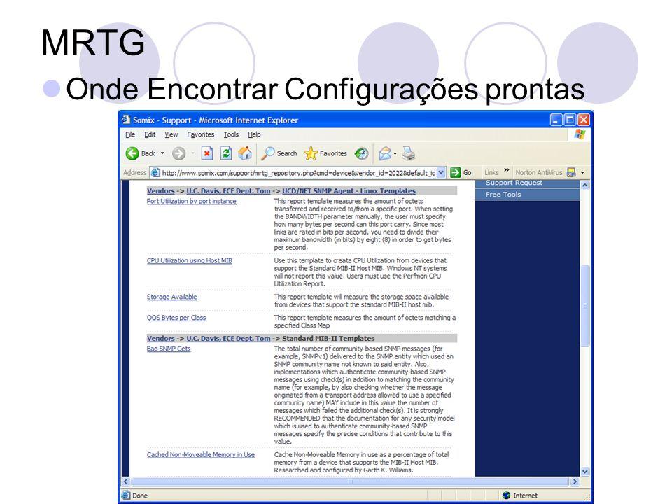 MRTG Onde Encontrar Configurações prontas