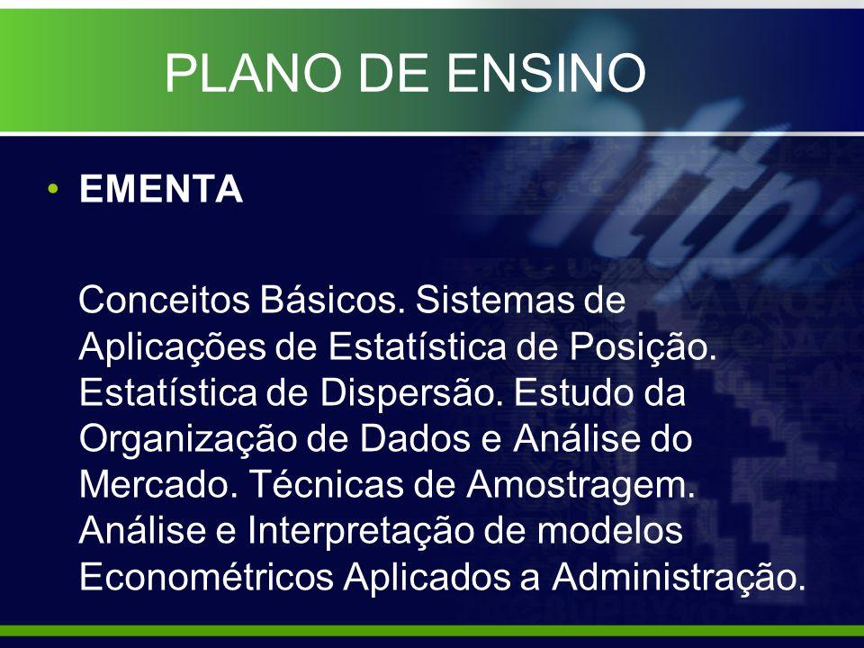 PLANO DE ENSINO BIBLIOGRAFIA BÁSICA - TRIOLA, Mario F..