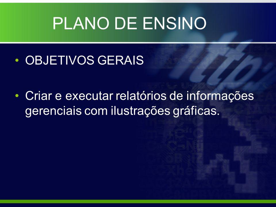 PLANO DE ENSINO OBJETIVOS ESPECÍFICOS Proporcionar conceitos básicos de estatística.