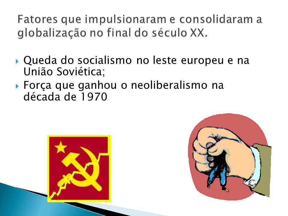 Queda do socialismo no leste europeu e na União Soviética; Força que ganhou o neoliberalismo na década de 1970