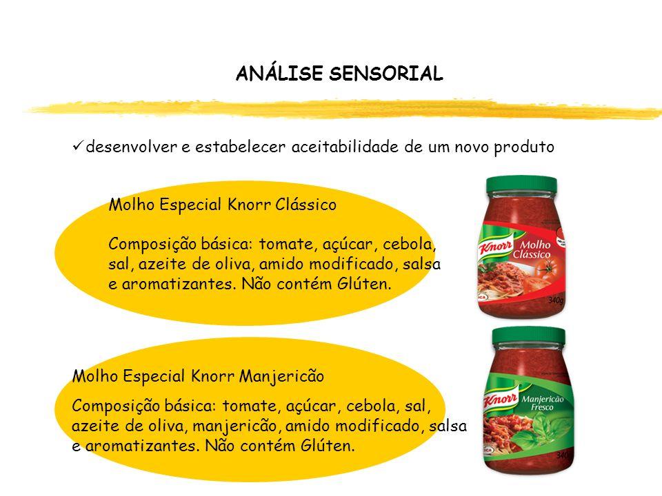 Molho Especial Knorr Clássico Composição básica: tomate, açúcar, cebola, sal, azeite de oliva, amido modificado, salsa e aromatizantes. Não contém Glú
