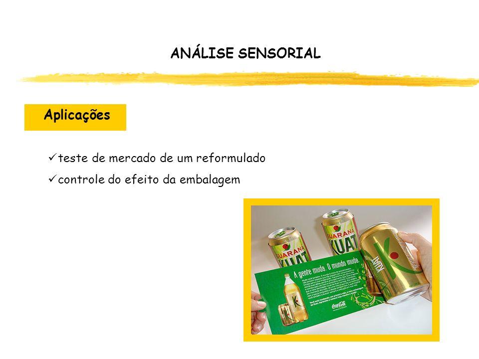 teste de mercado de um reformulado controle do efeito da embalagem ANÁLISE SENSORIAL Aplicações