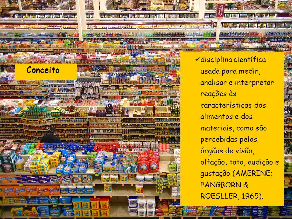 disciplina científica usada para medir, analisar e interpretar reações às características dos alimentos e dos materiais, como são percebidas pelos órg
