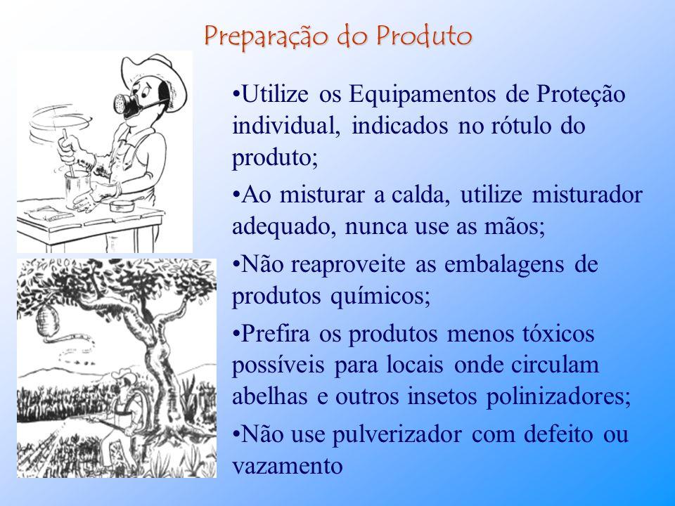Aplicação de Agrotóxicos Grande parte dos acidentes com agrotóxico ocorrem durante seu manuseio e muitas vezes o erro ocorre quando o agricultor adqui