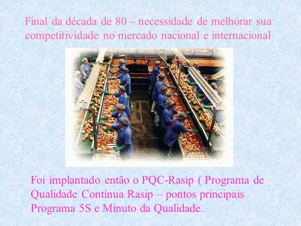 A empresa Rasip Agro Pastoril S/A Localizada em Vacaria, 243 Km de Porto Alegre. 5º lugar do Ranking nacional de produtores de maça. Emprega em média