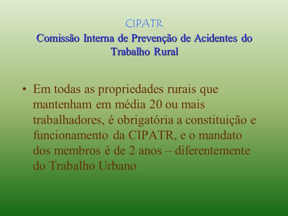 SEPATR Serviço Especializado em Prevenção de Acidentes do Trabalho Rural 1As empresas e propriedades rurais estão obrigadas a organizar o SEPATR quand