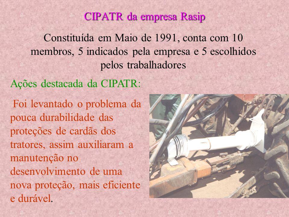 Comissão Interna de Prevenção de Acidentes do Trabalho Rural CIPATR Comissão Interna de Prevenção de Acidentes do Trabalho Rural Em todas as proprieda