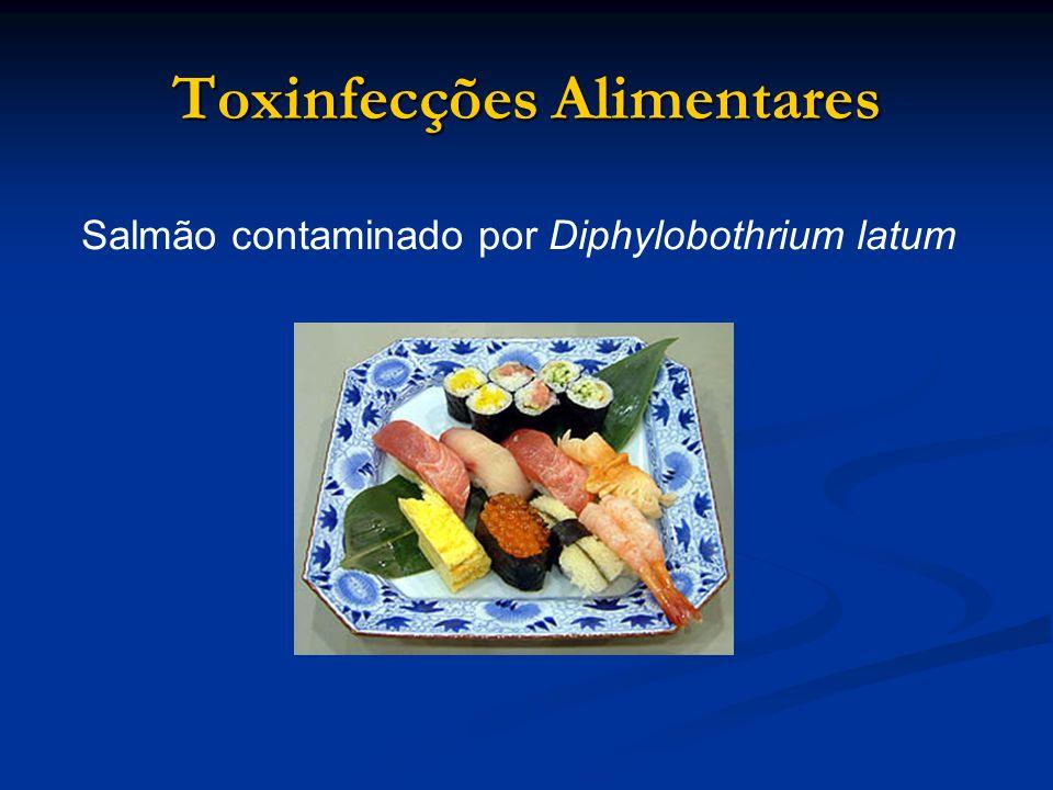 Toxinfecções Alimentares Salmão contaminado por Diphylobothrium latum