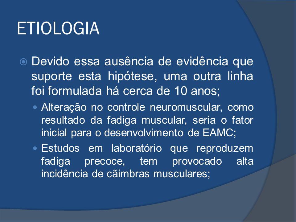 ETIOLOGIA Devido essa ausência de evidência que suporte esta hipótese, uma outra linha foi formulada há cerca de 10 anos; Alteração no controle neurom
