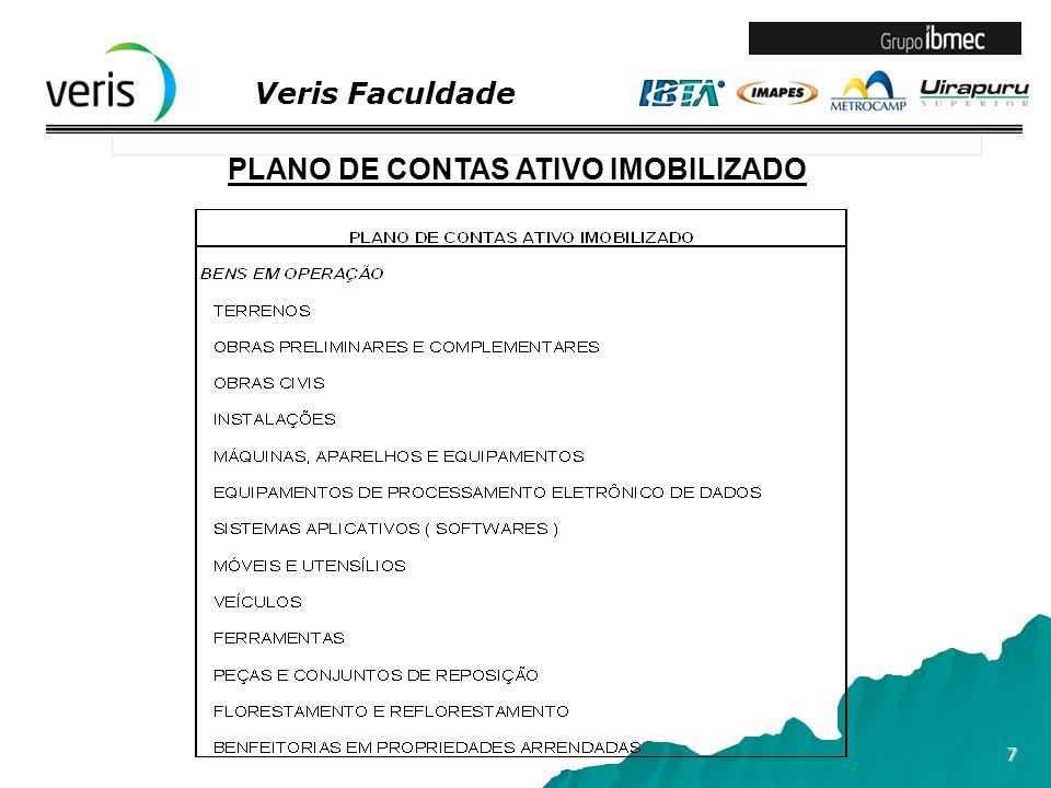 Veris Faculdade 8 PLANO DE CONTAS ATIVO IMOBILIZADO