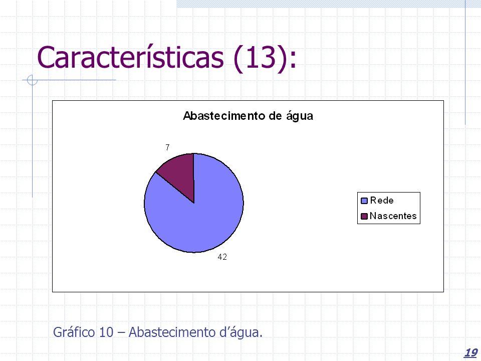 19 Características (13): Gráfico 10 – Abastecimento dágua.