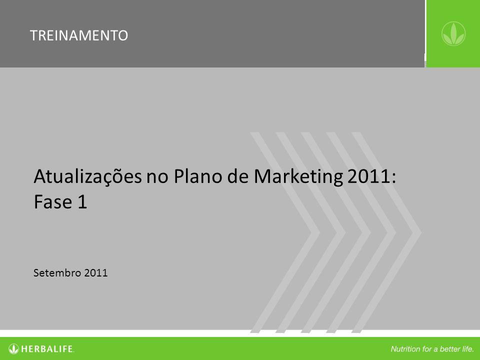 Atualizações no Plano de Marketing 2011: Fase 1 Setembro 2011 TREINAMENTO