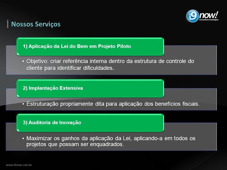 www.i9now.com.br Objetivo: criar referência interna dentro da estrutura de controle do cliente para identificar dificuldades.Objetivo: criar referênci
