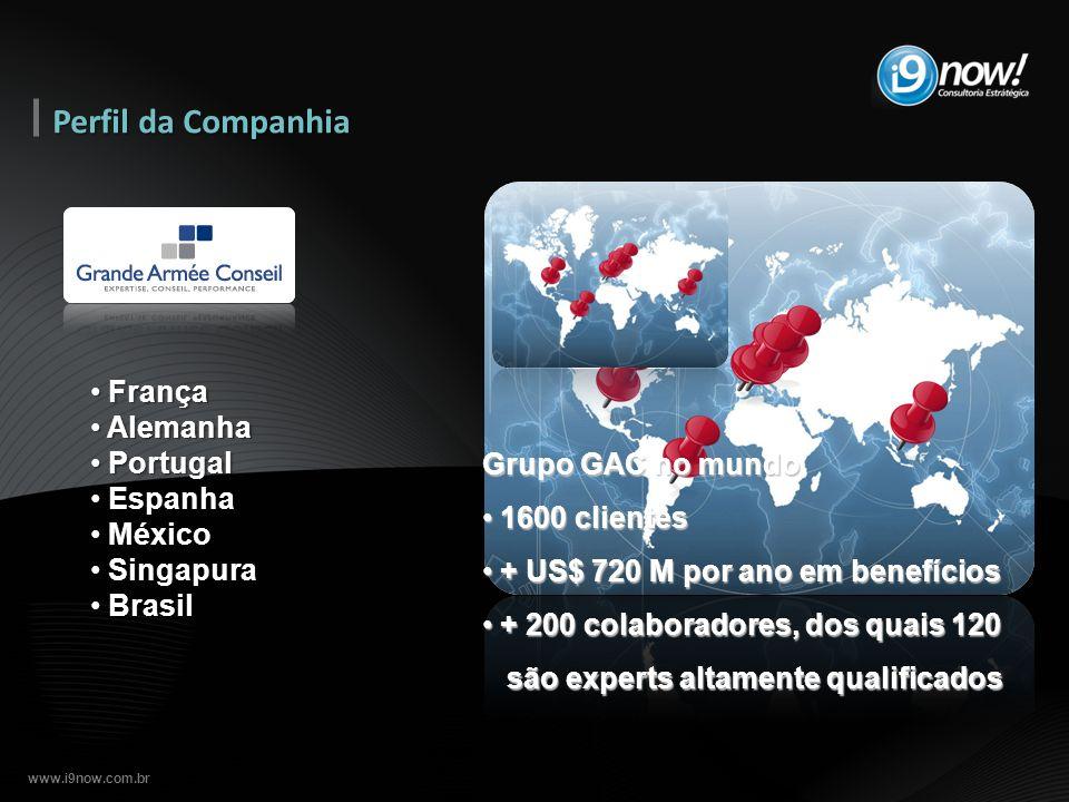 www.i9now.com.br Perfil da Companhia França França Alemanha Alemanha Portugal Portugal Espanha Espanha México México Singapura Singapura Brasil Brasil