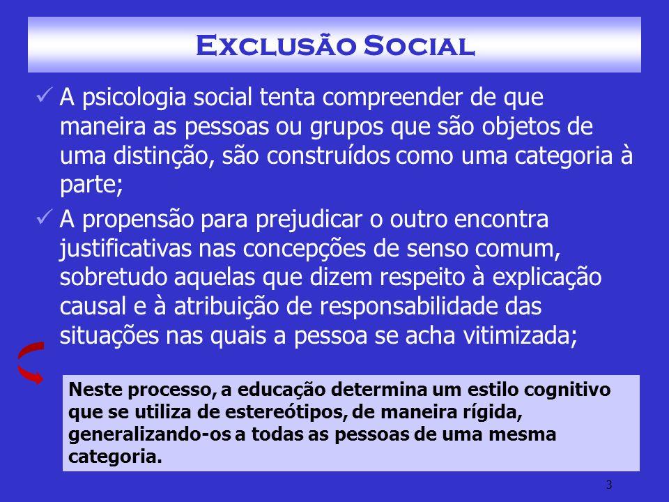 14 Exclusão Social – Fontes Geradoras G.