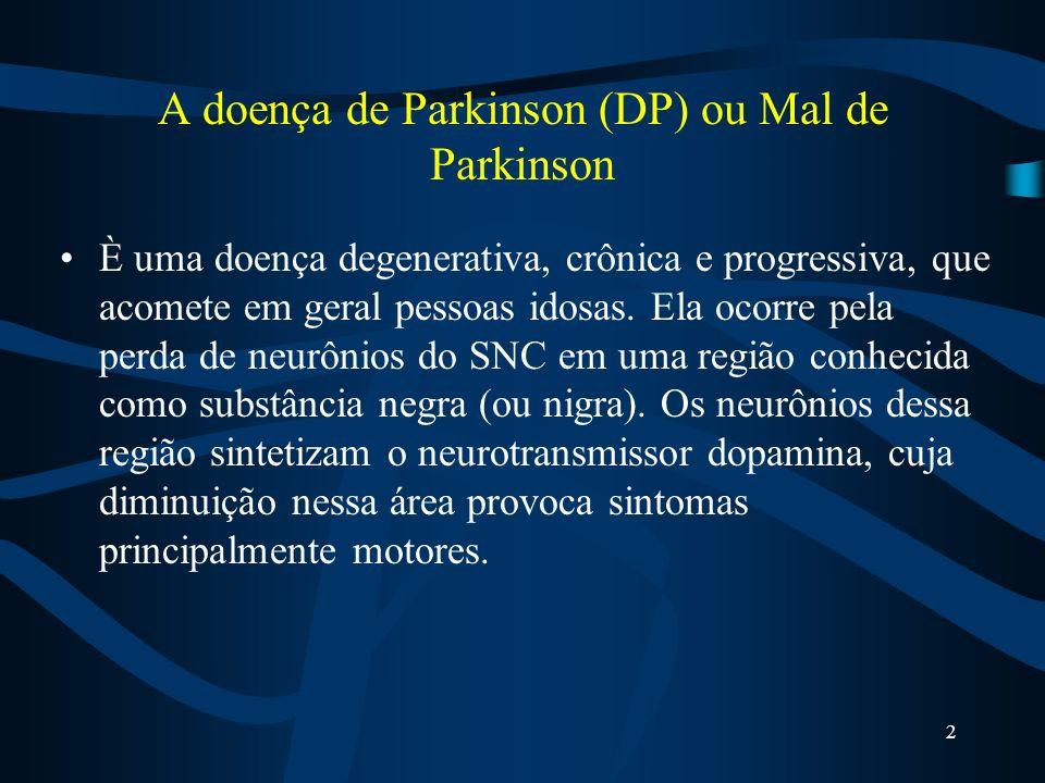 A doença de Parkinson (DP) ou Mal de Parkinson È uma doença degenerativa, crônica e progressiva, que acomete em geral pessoas idosas.