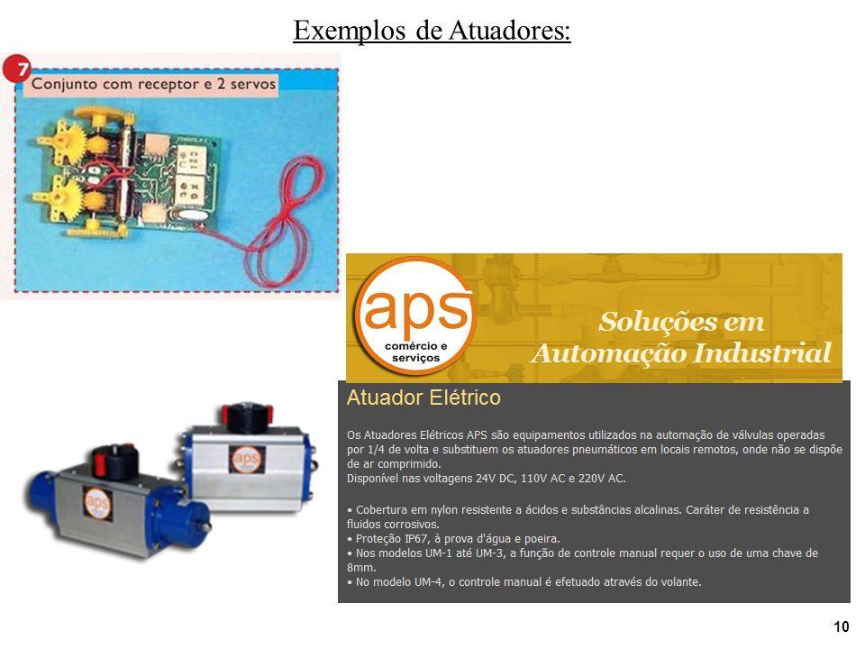 10 Exemplos de Atuadores: