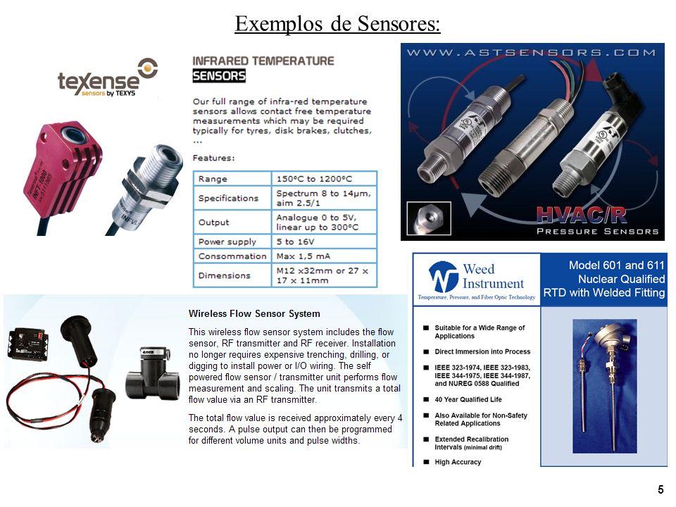 5 Exemplos de Sensores: