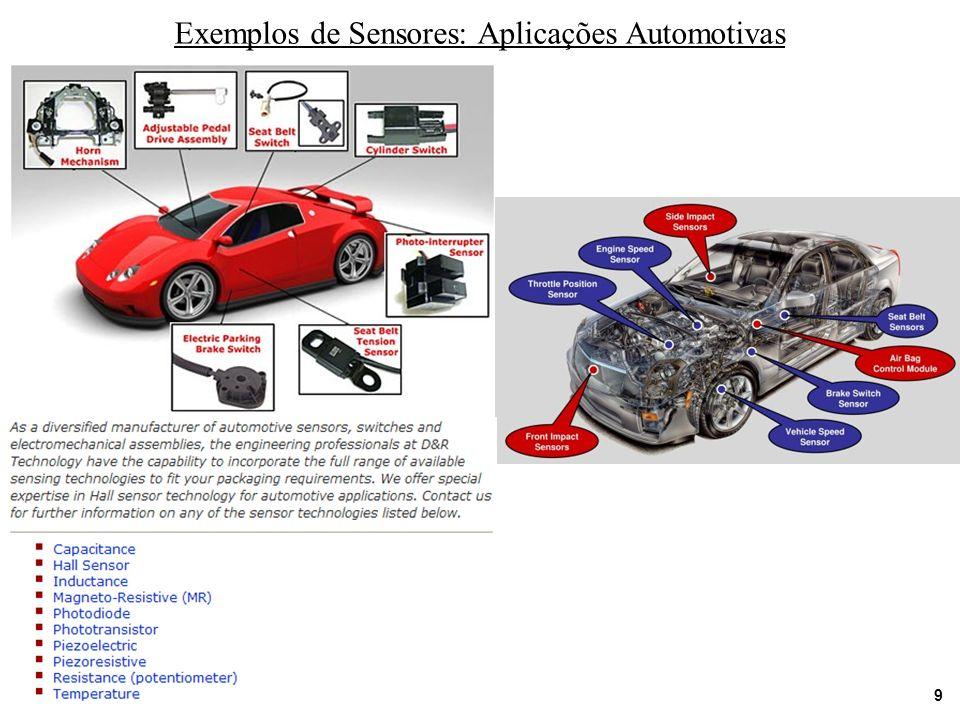 9 Exemplos de Sensores: Aplicações Automotivas