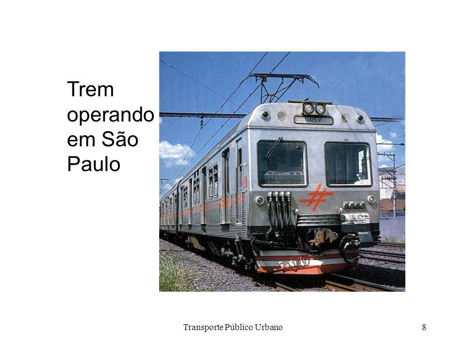 Transporte Público Urbano8 Trem operando em São Paulo